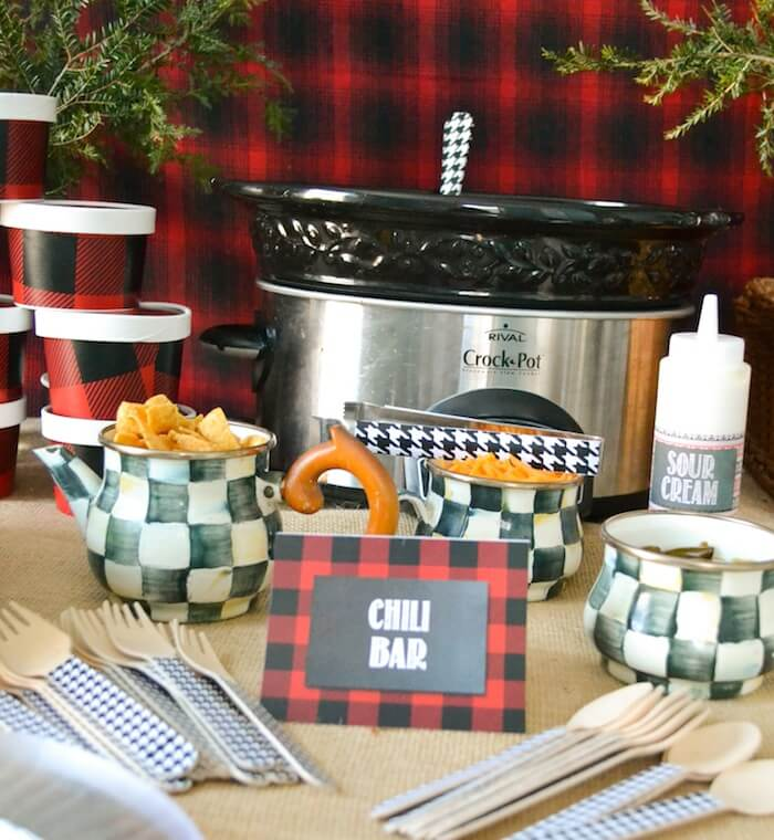 Chili Bar for a baby shower