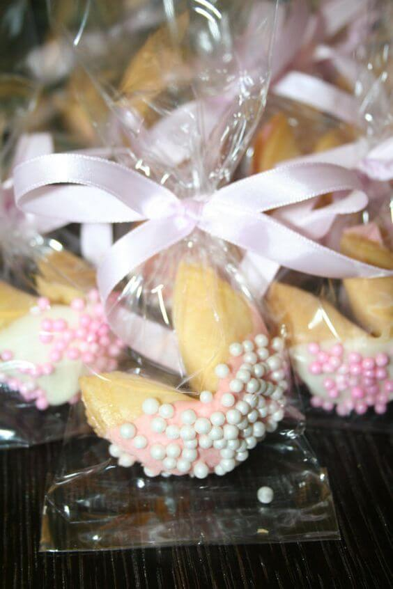 image of fortune cookie baby shower favors