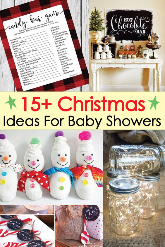 Winter Christmas Baby Shower Ideas With Free Printable Holiday Decor