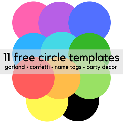 Free printable circle templates for party decor