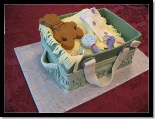 Picture of a designer Coach Diaper Bag Cake