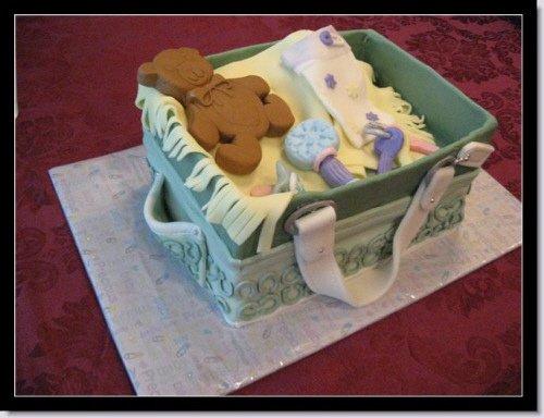 Picture of a designer Coach Diaper Bag Cake