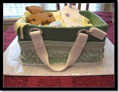Picture of a Popular Coach Diaper Bag Cake