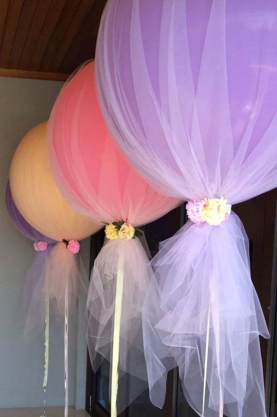 image of colored tulle balloons