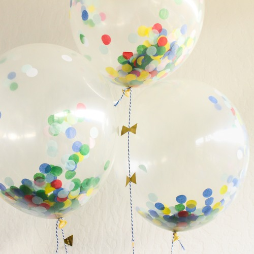 image of confetti baby shower balloons