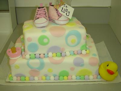 cute picture of a converse polka dot cake