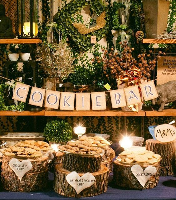 image of a cookie bar for a baby shower