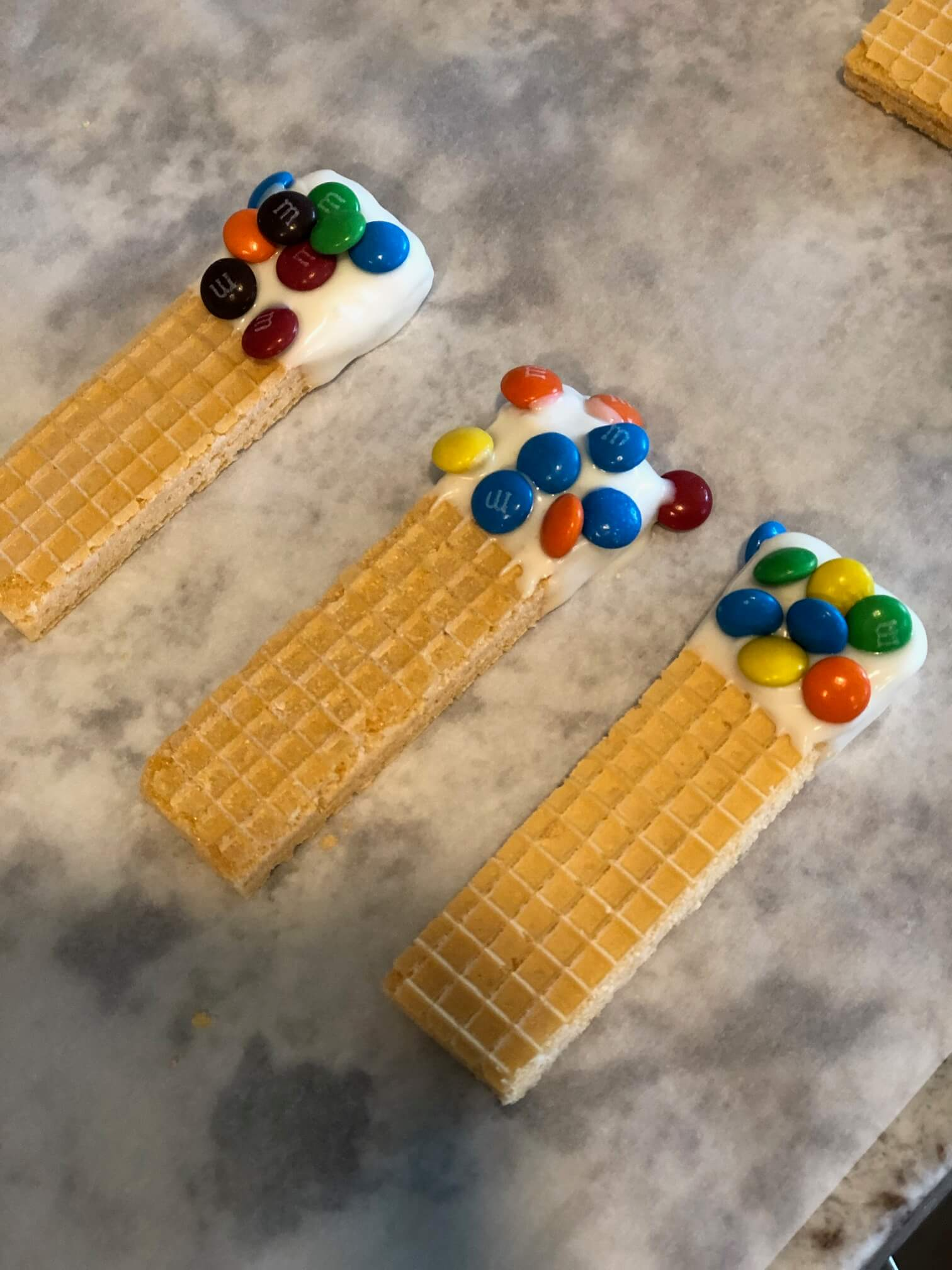 Chocolate Dipped Wafer Baby Shower Favors