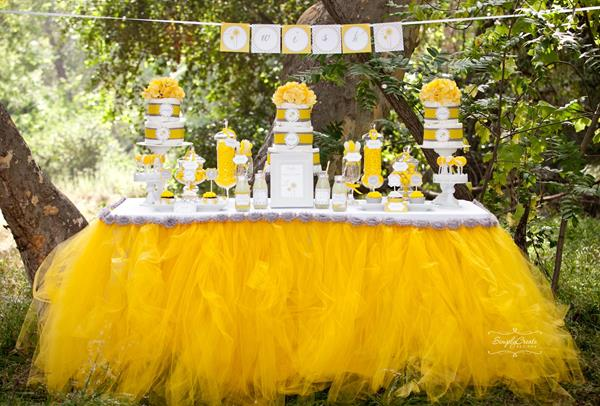Best Banner Of Dandelion Baby Shower Table Decorations With Bumble Bee