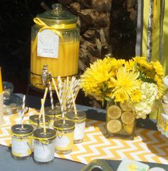 image of yellow baby shower punch ideas