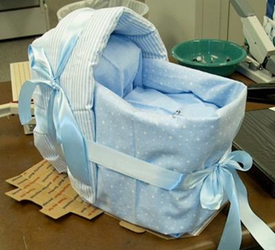 Diaper Baby Shower Bassinet Cake