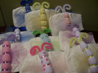 picture of baby shower diaper crafts