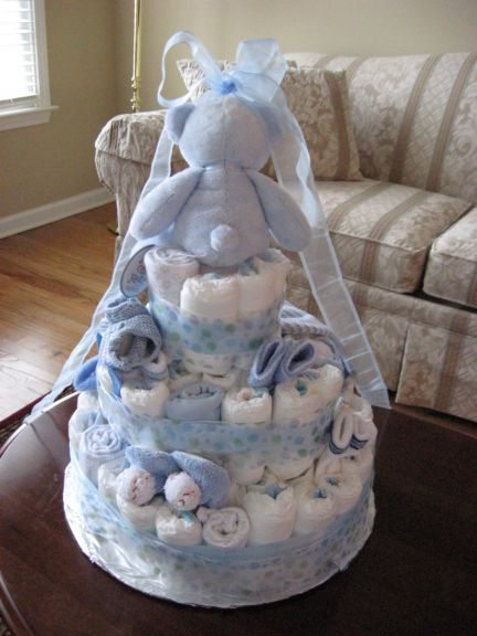 Diaper Cake Ideas For Baby Boy : Image Baby Boy Diaper Cake Ideas Download