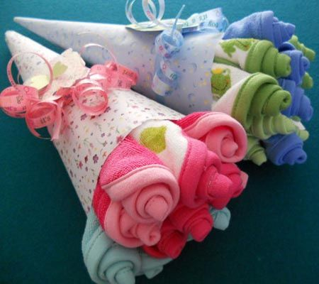 Easy, DIY Washcloth Flower Bouquets