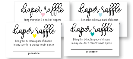 printable baby shower diaper raffle cards picture
