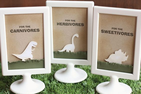 Dinosaur Baby Shower Food Signs