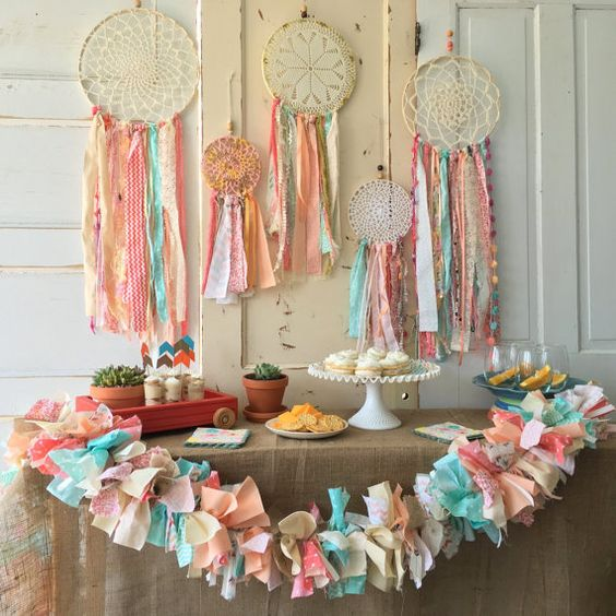 boho-themed tribal baby shower decor