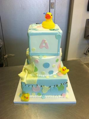 Duck Baby Shower Cake picture