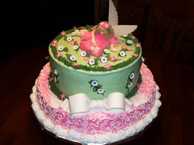 picture of a princess fairy baby shower cake
