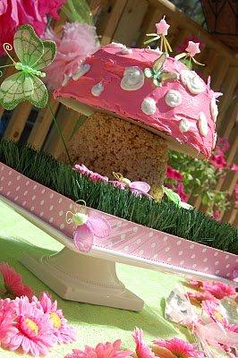mushroom princess fairy baby shower cake picture