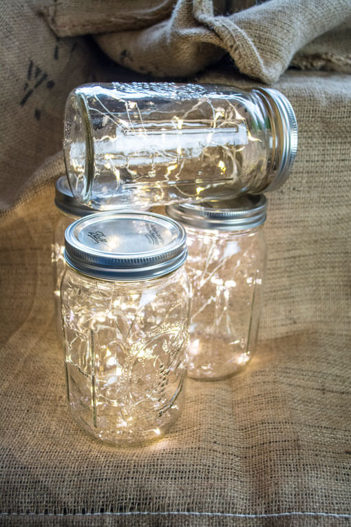 fairy lights in a mason jar picture