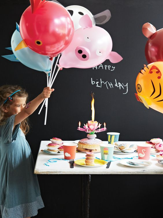 image of farm animal balloons for a party