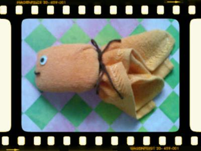 picture of fish washcloth favors