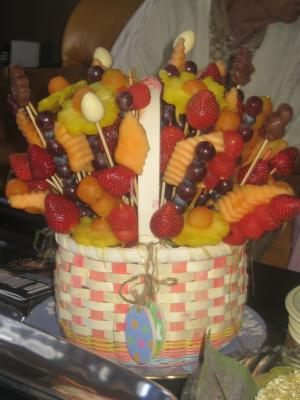 Flower fruit basket picture