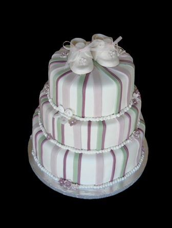 image of a baby shower fondant cake