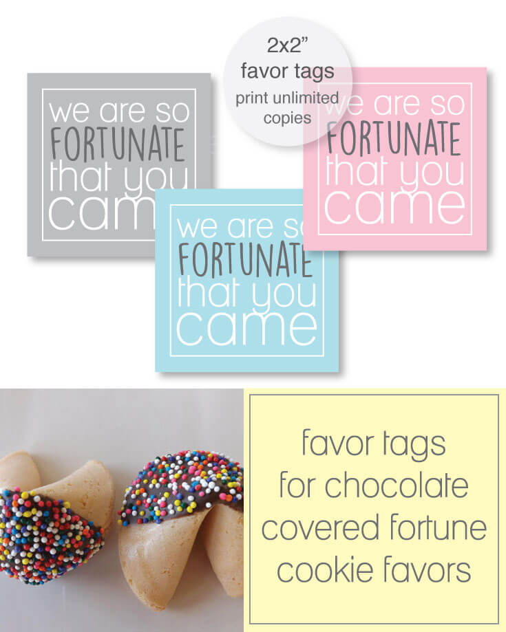 Printable Fortune Cookie Favor Tags banner