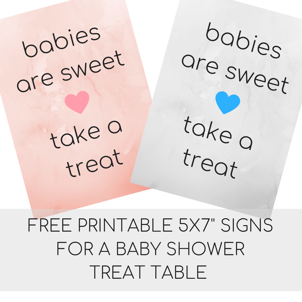 free printable baby shower favor table treat signs