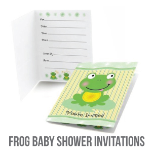 frog baby shower invitations banner