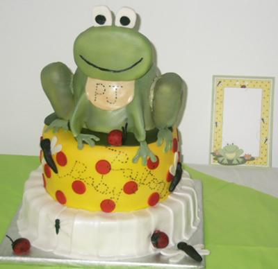 picture of a frog baby shower cake