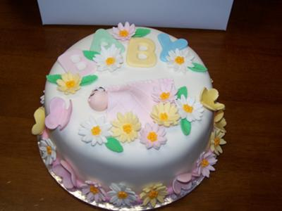 picture of a garden themed cake
