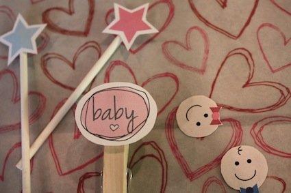 gender reveal baby shower clipart