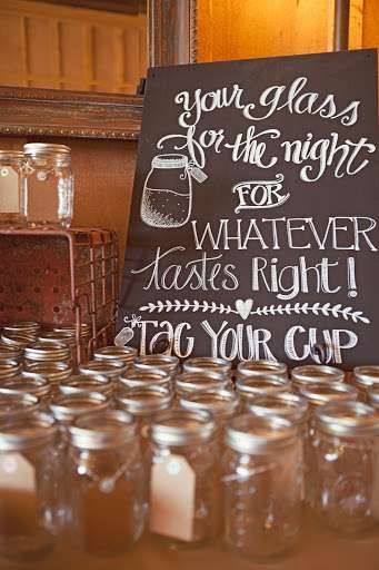 baby shower punch glasses idea