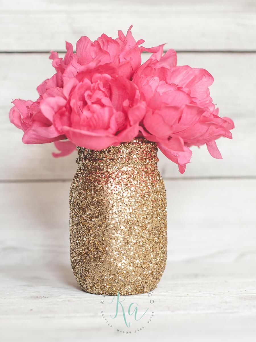 DIY Gold Glitter Mason Jar picture
