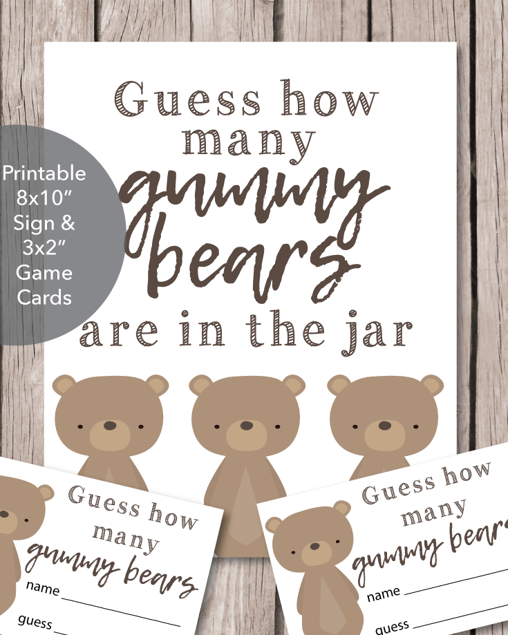 Gummy Bear Guessing Game for a baby shower