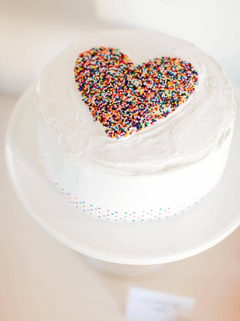 heart baby shower cake inspiration