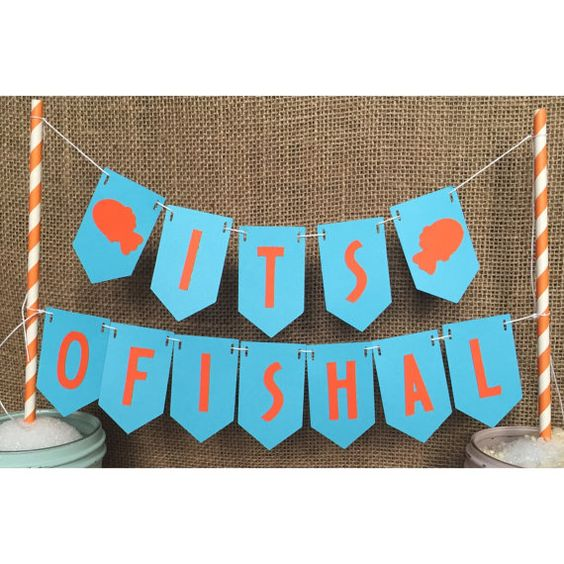 it's ofishal adoption baby shower sign banner