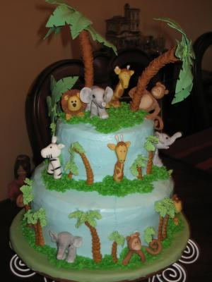 baby shower cakes jungle animal theme baby shower cakes