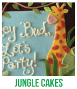 jungle baby shower cakes banner