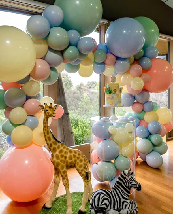 Jungle Baby Shower Balloon Decorations