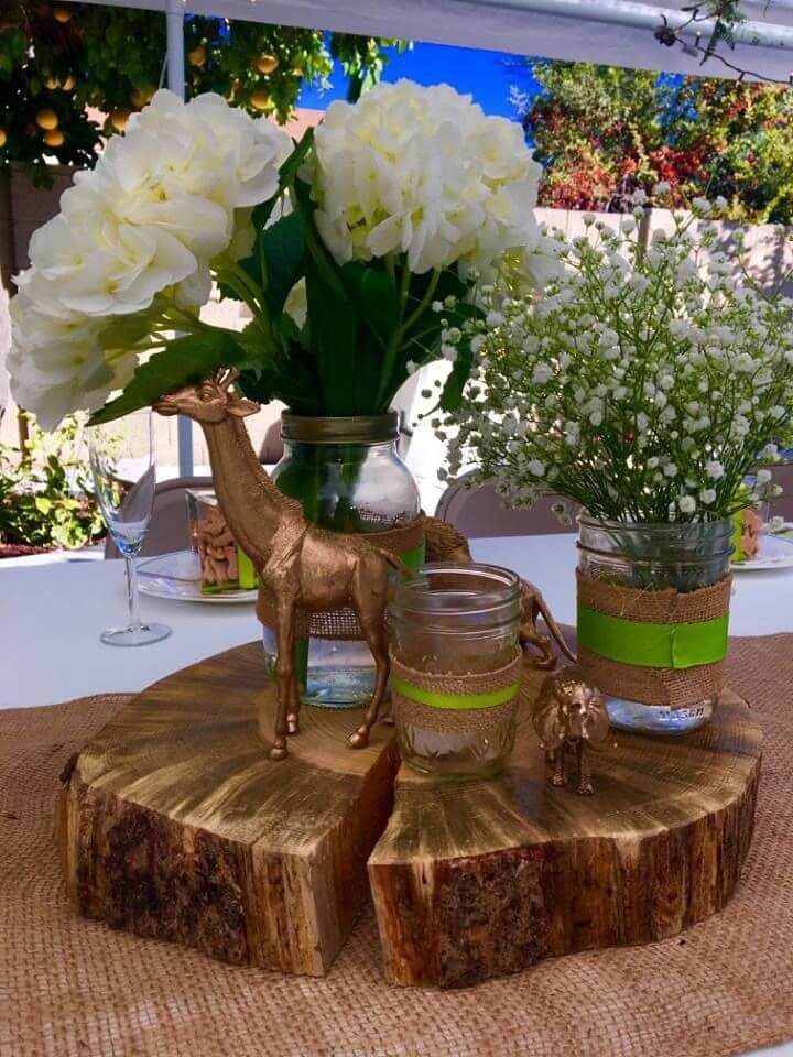 baby shower jungle safari centerpieces