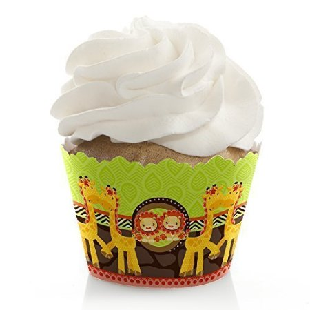 Picture of jungle twin cupcake wrappers