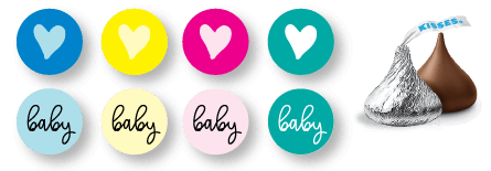 printable Hershey's Kisses labels picture