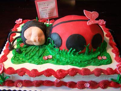 Flower Garden Baby Shower Cakes - erflies and Ladybugs too! on baby ladybug cake, diy ladybug cake, christmas ladybug cake, green ladybug cake,