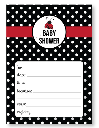 Free Printable Ladybug Baby Shower Invitations Banner