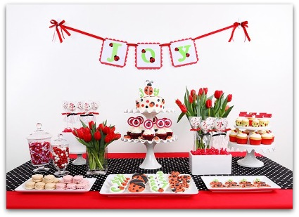 Cute Ladybug Baby Shower Ideas, Decorations and Supplies