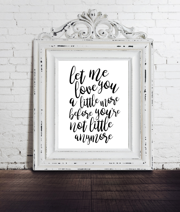 image of baby wall art for a baby's nursery